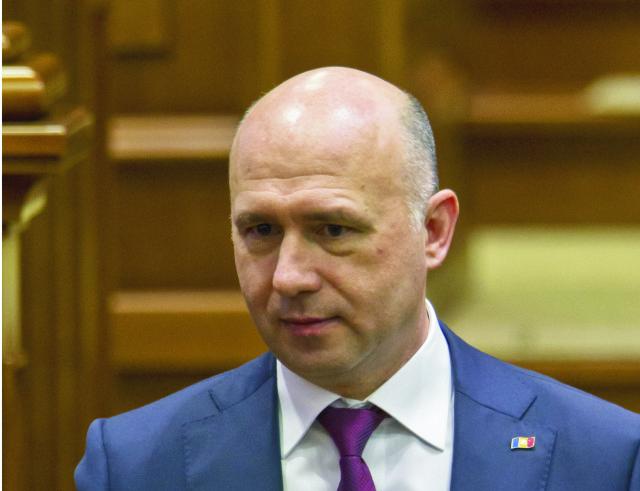 Na snímke moldavský premiér Pavel Filip