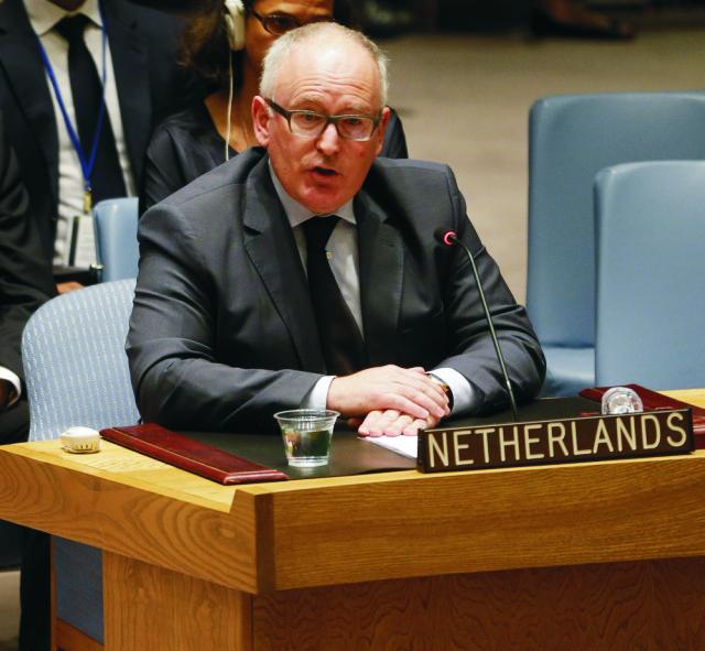 Holandský minister zahraničných vecí Frans Timmermans