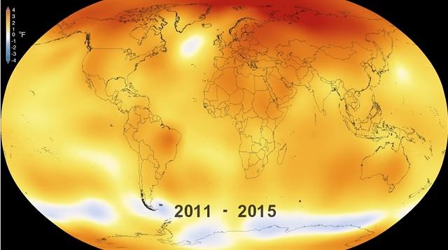 Ako ukazujú merania NASA, posledné roky boli skutočne teplotne nadpriemerné