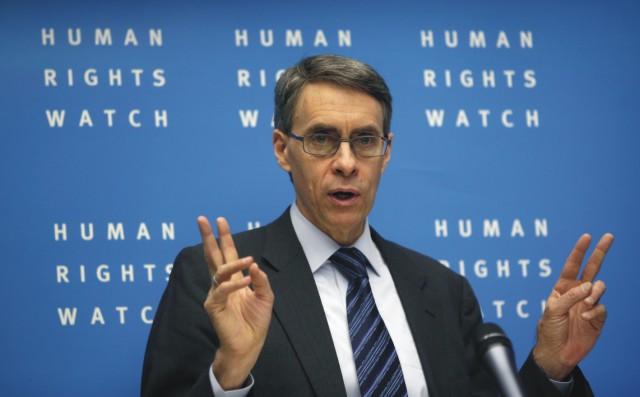Na archívnej snímke výkonný riaditeľ  organizácie Human Rights Watch Kenneth Roth