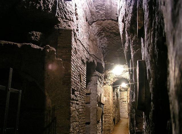 Rímske katakomby. Ilustračné foto