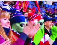 Pohľad na fanúšikov počas zápasu