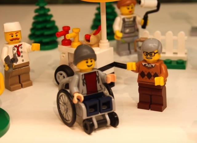 Chlapec na vozíku