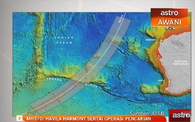 Lokalizácia miesta, kde loď Havila Harmony hľadala
