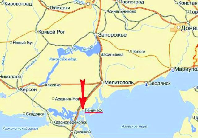 Kyjevské vedenie a ukrajinské média dlho nechceli uznať, že plyn do Geničeska plynie z Ruska