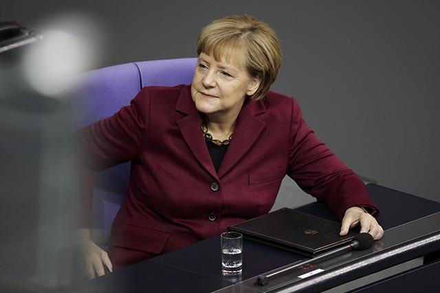 Na snímke nemecká kancelárka Angela Merkelová