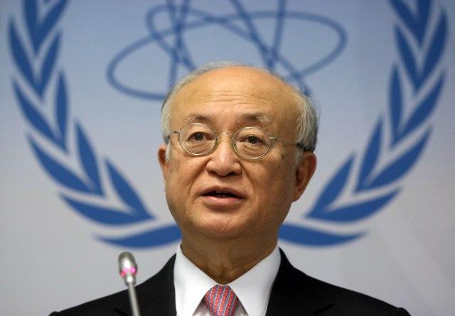 Na snímke generálny riaditeľ Medzinárodnej agentúry pre atómovú energiu (MAAE) Jukija Amano