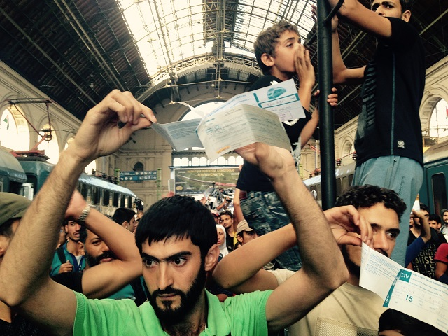 Na archívnej snímke Sýrsky utečenci
