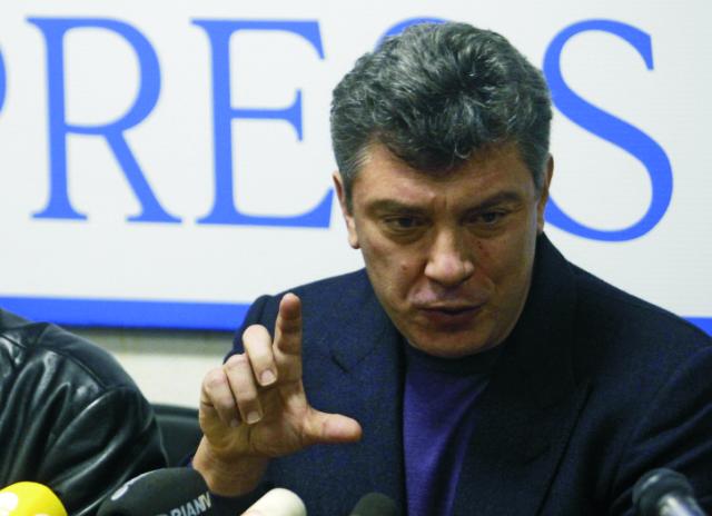 Na archívnej snímke Boris Nemcov