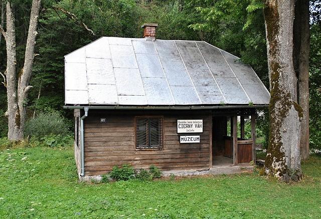 Stanica lesnej železnice v osade Čierny Váh, v súčasnosti múzeum Považskej lesnej železnice