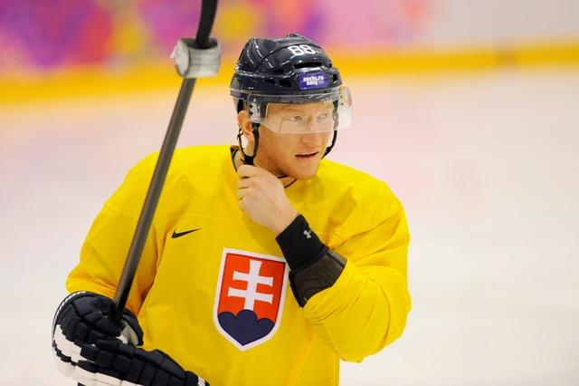 Na snímke slovenský hokejista Marcel Hossa
