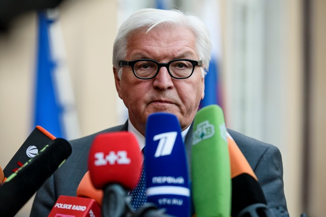 Na snímke nemecký šéf diplomacie Frank-Walter Steinmeier