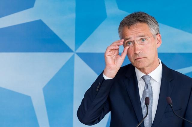 Na snímke enerálny tajomník NATO Jens Stoltenberg