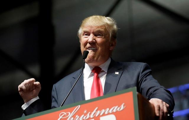 Na snímke republikánsky prezidentský kandidát a realitný magnát Donald Trump