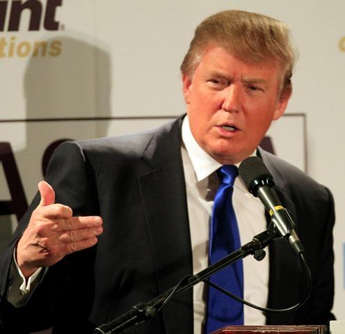 Na snímke kandidát na post amerického prezidenta Donald Trum