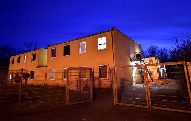 Na snímke je ubytovňa pre migrantov v nemeckom Karpene