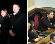 """Poslanec strany """"Baťkivščina"""" Alexander Dubovoj na """"sviatku hladomoru"""" v plášti luxusnej značky Zilli za 85 tisíc eur (rok 2012) a v lavici Najvyššej rady. Minimálna penzia na Ukrajine je dnes 40-45 eur, v roku 2012 to bolo okolo 70 eur"""