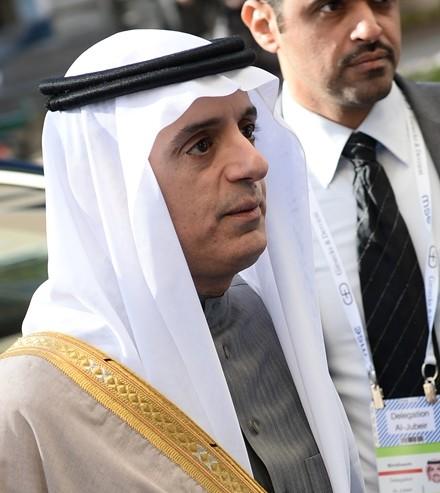 Na snímke minister zahraničných vecí Saudskej Arábie Ádil Džubajr