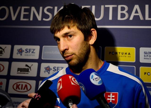 Na snímke futbalista Dušan Kuciak