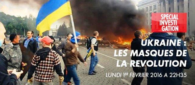 """Francúzska televízna spoločnosť Canal+ odmietla všetky výhrady ukrajinského vedenia a včera večer predsa uviedlak film režiséra Paula Moreiroa """"Ukrajina. Masky revolúcie"""""""