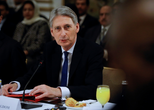 Na snímke britský minister zahraničných vecí Philip Hammond