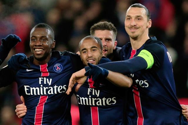 Na snímke hráči Paríža St. Germain