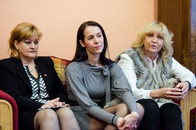Na snímke zľava Gabriella Németh, Daniela Gáliková, Dagmar Povodová