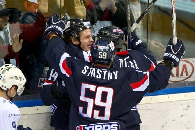 Na snímke hráči Slovana Bratislava