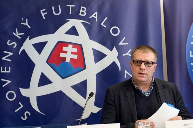 Na snímke prezident Slovenského futbalového zväzu Ján Kováčik