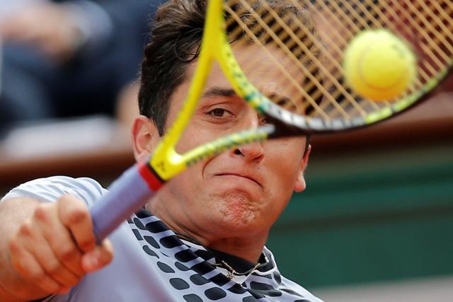 Na snímke španielsky tenista Nicolas Almagro