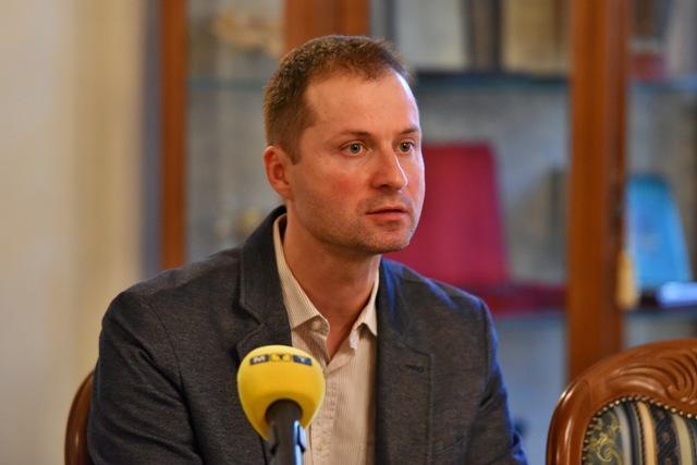 Na snímke zástupca expertného tímu Transparency International Slovensko Gabriel Šípoš