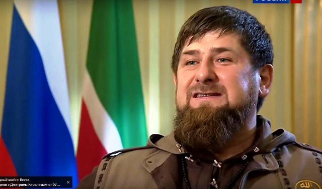 Na snímke čečenský prezident Ramzan Kasyrov