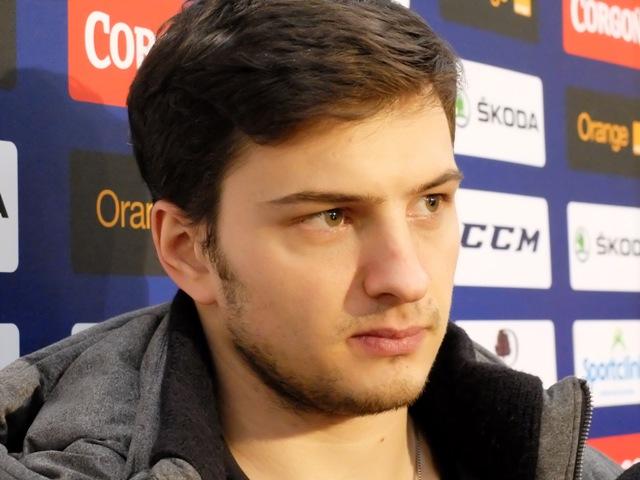 Na snímke slovenský hokejový útočník Libor Hudáček