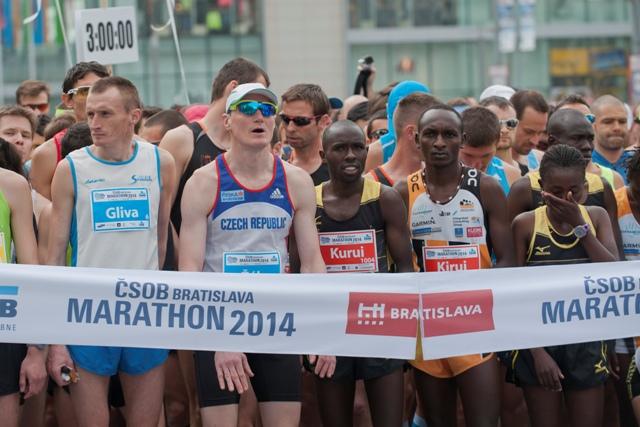 Na snímke zo štartu 9. ročníka ČSOB Bratislavského maratónu