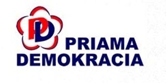 Logo politickej stany Priama demokracia