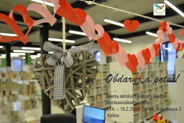 Knižnica pre mládež mesta Košice vyhlasuje zbierku detských kníh Obdaruj a Poteš