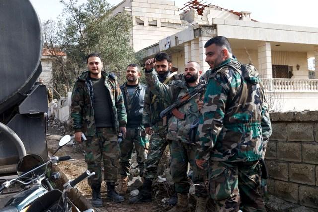 Na ilustračnej snímke sýrske jednotky
