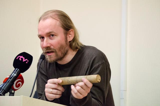 Na snímke predstaviteľ Iniciatívy slovenských učiteľov Vladimír Crmoman