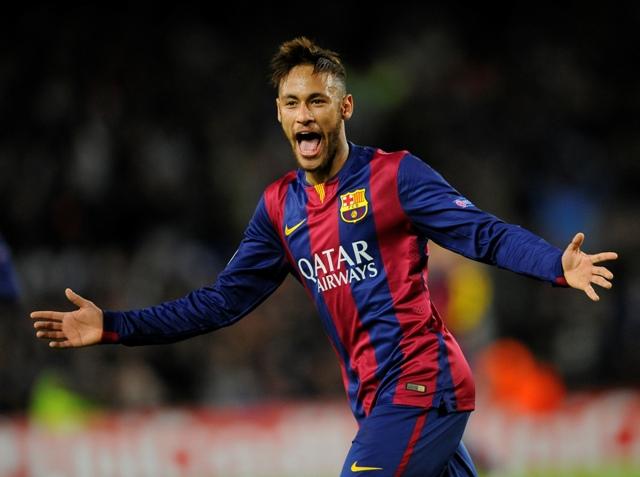 Na snímke brazílsky útočník Barcelony Neymar