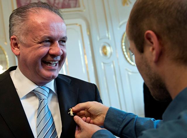 Na snímke vľavo prezident SR Andrej Kiska