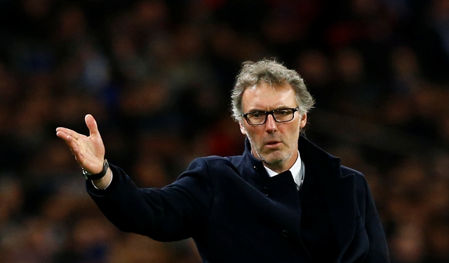 Na snímke tréner PSG Laurent Blanc