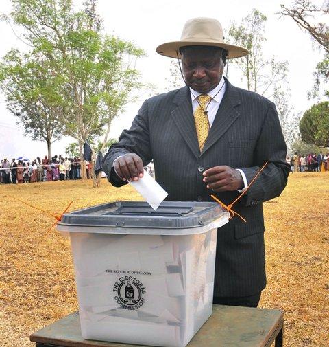 Na snímke ugandský prezident Yoweri Museveni