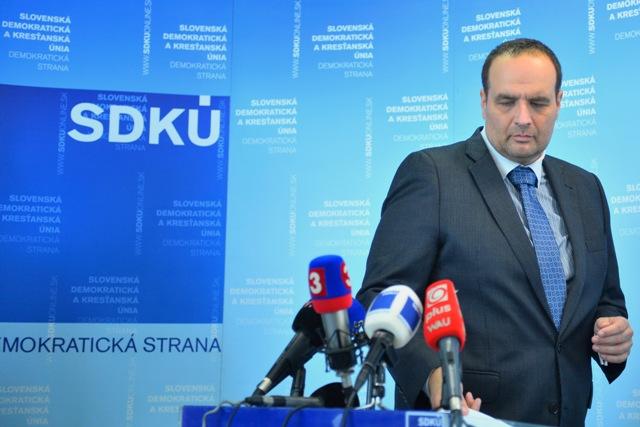 Na snímke predseda SDKÚ-DS Pavol Frešo