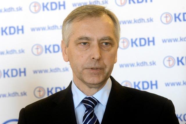 Na snímke líder KDH Ján Figeľ