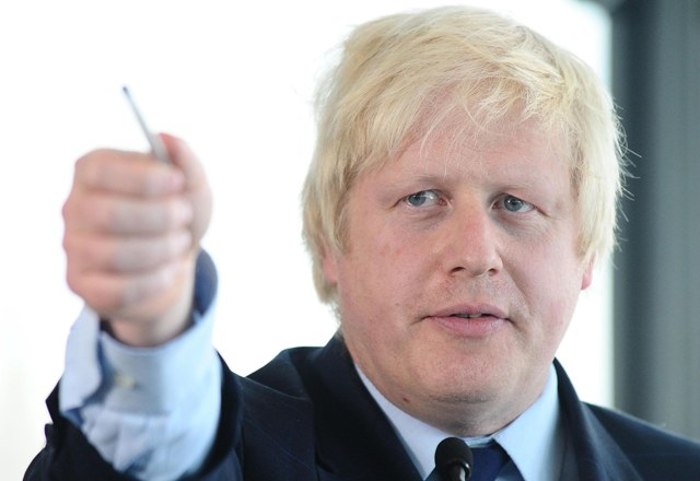Na snímke primátor Londýna Boris Johnson