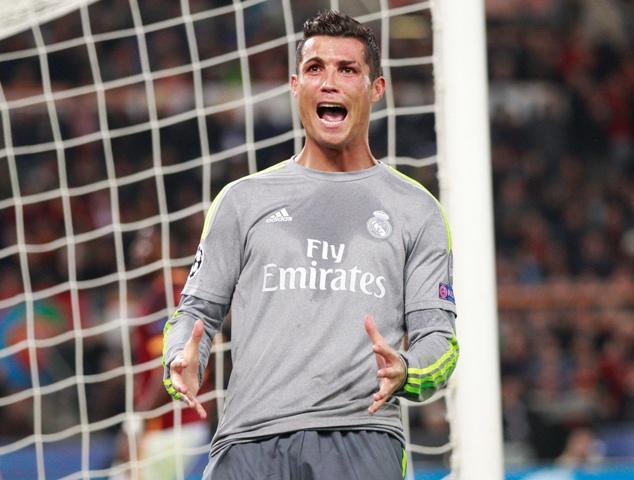 Na snímke portugalský útočník Realu Madrid Cristiano Ronaldo