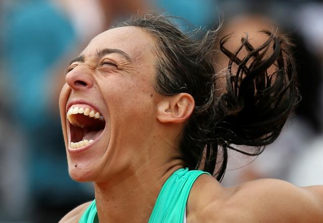 Na snímke talianska tenistka Francesca Schiavoneová