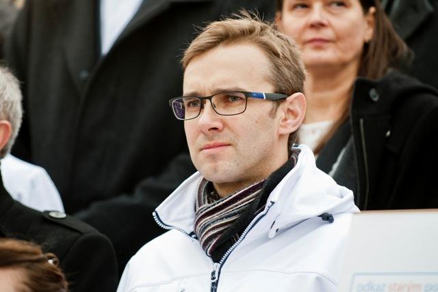 Na snímke člen predsedníctva strany #Sieť Martin Fedor