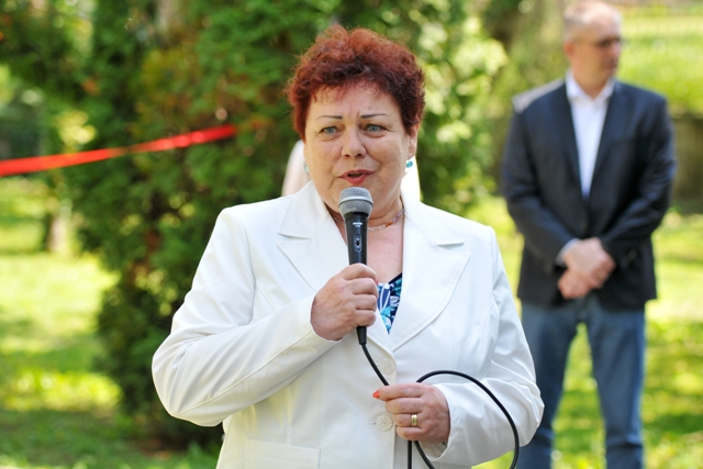 Na snímke poslankyňa Národnej rady SR Janka Šípošová (OľaNO), ktorá pred rokmi založila občianske združenie Pomoc obetiam násilia