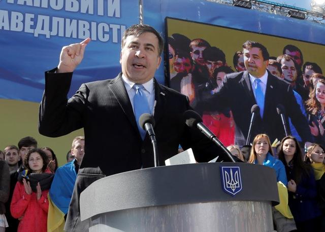 Na snímke Michail Saakašvili